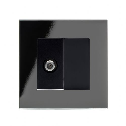 RetroTouch Single Satellite Socket Black Glass PG 04842